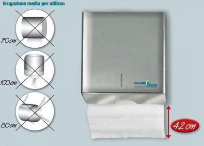 Dispenser per asciugamano piegato Quadrifoglio